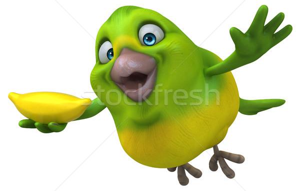Leuk groene vogel 3d illustration Stockfoto © julientromeur