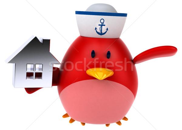 красный птица 3d иллюстрации дома домой оранжевый Сток-фото © julientromeur