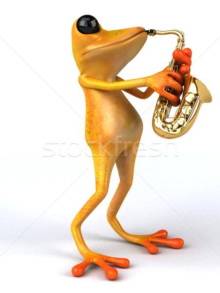 楽しい カエル 3次元の図 音楽 自然 熱帯 ストックフォト © julientromeur