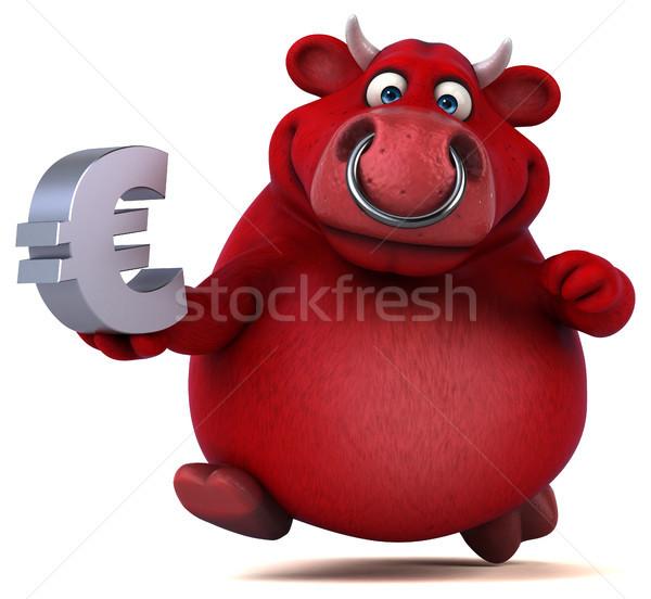 赤 牛 3次元の図 ビジネス 髪 牛 ストックフォト © julientromeur