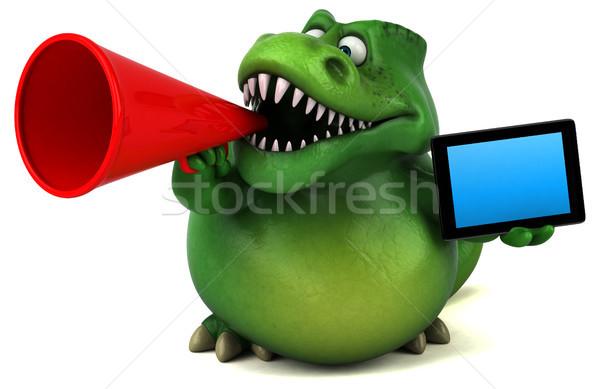Leuk dinosaurus 3d illustration tanden dier media Stockfoto © julientromeur