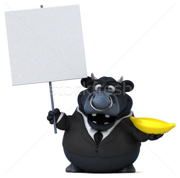 黒 牛 3次元の図 スーツ ファーム チーズ ストックフォト © julientromeur