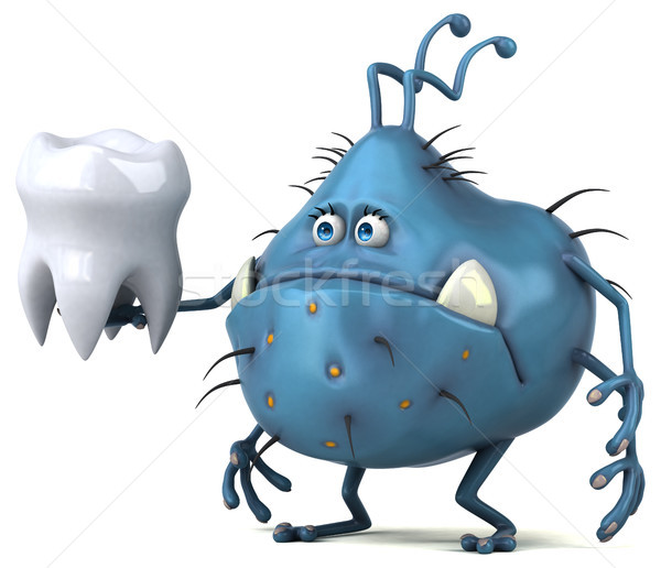 Jókedv bacilus 3d illusztráció orvosi egészség fogorvos Stock fotó © julientromeur