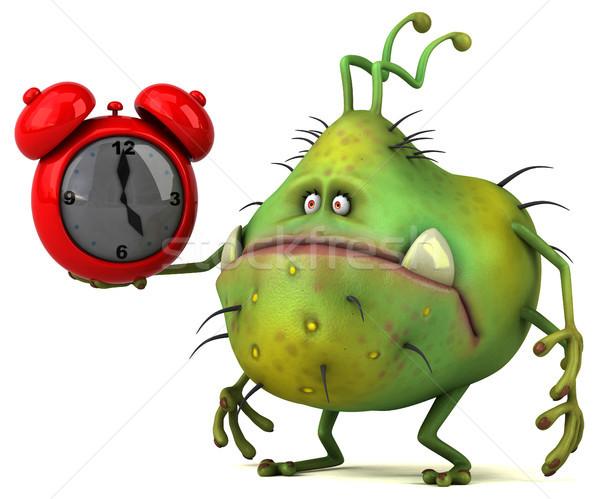 Jókedv bacilus 3d illusztráció munka egészség grafikus Stock fotó © julientromeur
