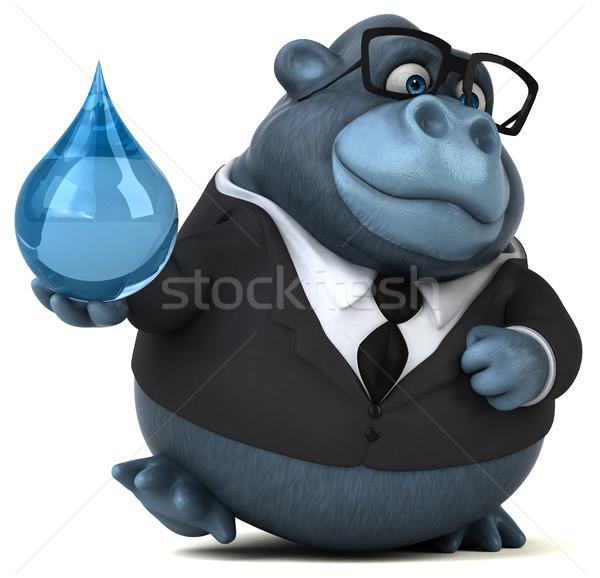 Jókedv gorilla 3d illusztráció víz üzletember öltöny Stock fotó © julientromeur