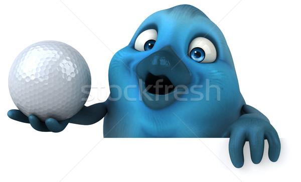 Azul pássaro golfe esportes bola comunicação Foto stock © julientromeur