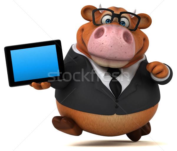 楽しい 牛 3次元の図 スーツ チーズ 金融 ストックフォト © julientromeur