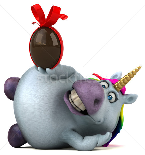 Leuk 3d illustration Pasen ontwerp chocolade regenboog Stockfoto © julientromeur