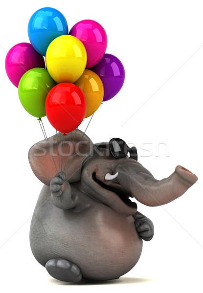 Fun elephant - 3D Illustration Stock photo © julientromeur