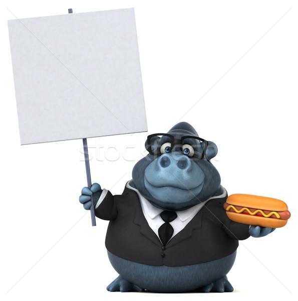 Jókedv gorilla 3d illusztráció üzletember öltöny állat Stock fotó © julientromeur