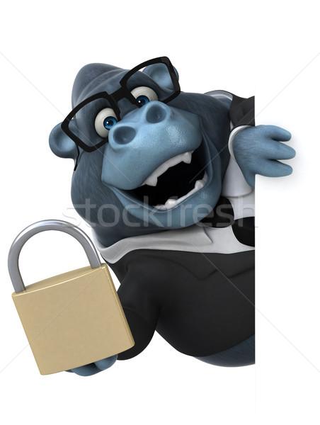 Jókedv gorilla 3d illusztráció biztonság üzletember öltöny Stock fotó © julientromeur