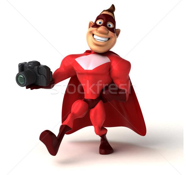 Eğlence süper kahraman adam vücut hızlandırmak fotoğraf Stok fotoğraf © julientromeur