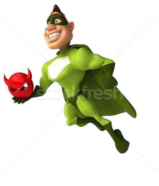 Zabawy superhero człowiek ciało prędkości cool Zdjęcia stock © julientromeur
