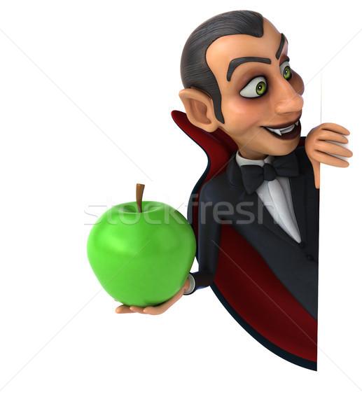 вампир яблоко фрукты искусства рот губ Сток-фото © julientromeur