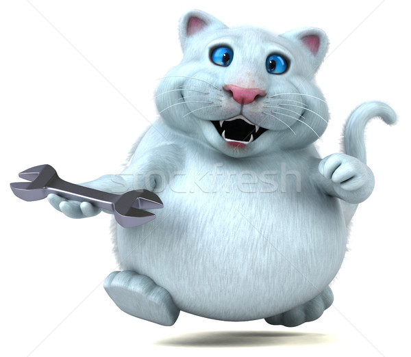 Fun cat - 3D Illustration Stock photo © julientromeur