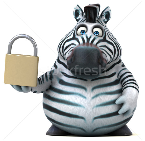 Fun zebra - 3D Illustration Stock photo © julientromeur