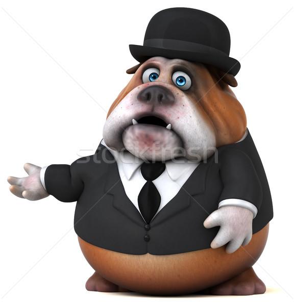 楽しい ブルドッグ 3次元の図 ビジネス 犬 悲しい ストックフォト © julientromeur