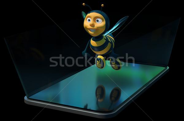 蜂 電話 3次元の図 芸術 携帯 ワーカー ストックフォト © julientromeur