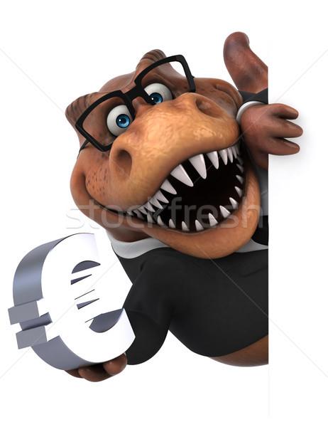 Eğlence 3d illustration iş işadamı finanse dişler Stok fotoğraf © julientromeur