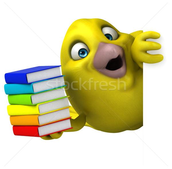 Diversão pássaro livro escolas laranja animal Foto stock © julientromeur