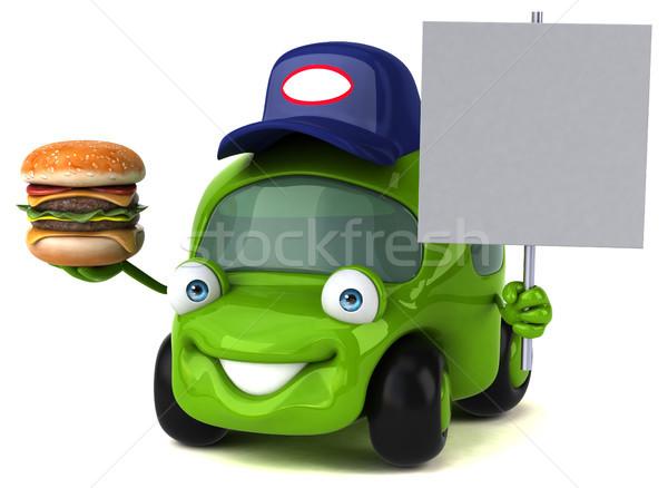 Eğlence araba 3d illustration yol enerji trafik Stok fotoğraf © julientromeur