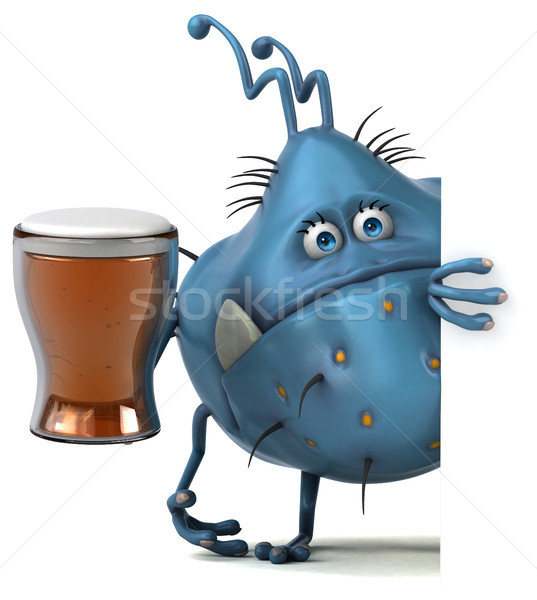 Stock photo: Fun germ - 3D Illustration