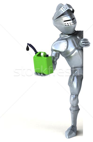 Zabawy rycerz zielone oleju cyfrowe żołnierz Zdjęcia stock © julientromeur