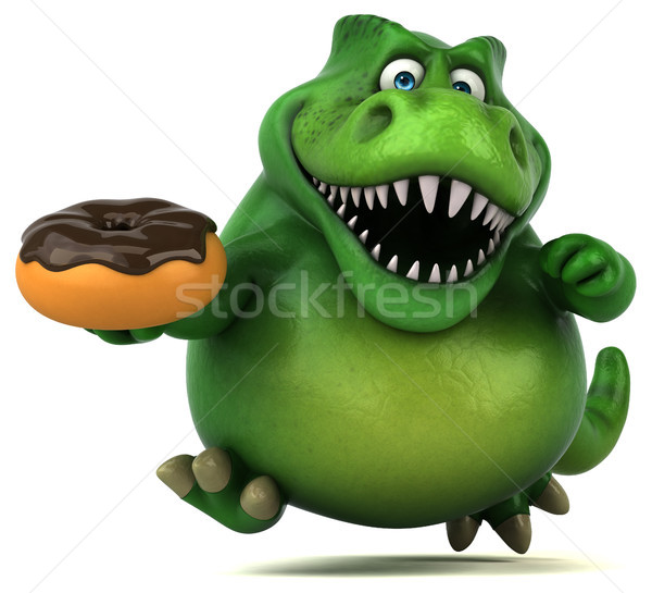 Eğlence dinozor 3d illustration çikolata dişler hayvan Stok fotoğraf © julientromeur