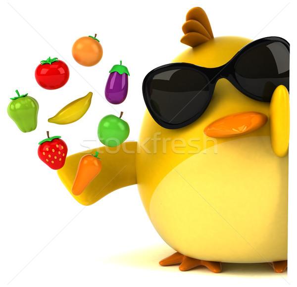 Yellow bird - 3D Illustration Stock photo © julientromeur