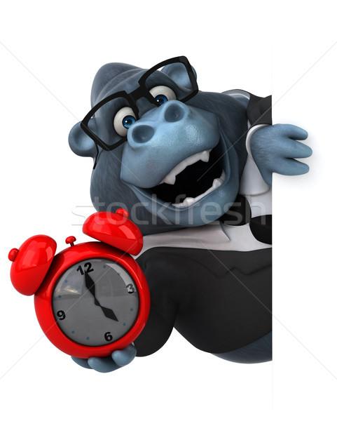Jókedv gorilla 3d illusztráció munka üzletember öltöny Stock fotó © julientromeur