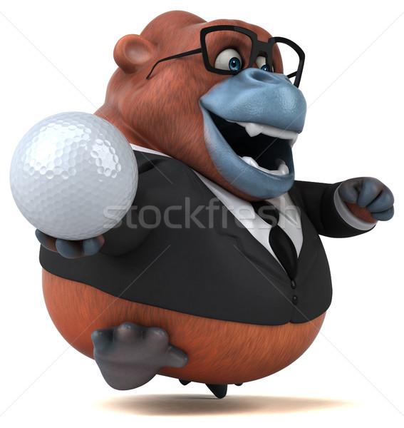 Stok fotoğraf: Eğlence · 3d · illustration · iş · golf · spor · doğa