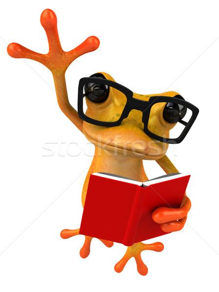 Jókedv béka iskola narancs trópusi tanul Stock fotó © julientromeur