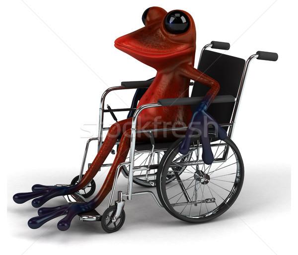 Zabawy żaba charakter tropikalnych handicap 3D Zdjęcia stock © julientromeur