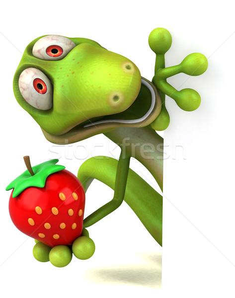 楽しい トカゲ フルーツ 緑 色 動物 ストックフォト © julientromeur
