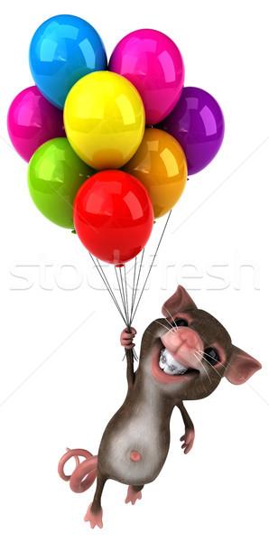 Stok fotoğraf: Eğlence · fare · parti · ağız · komik · hayvan