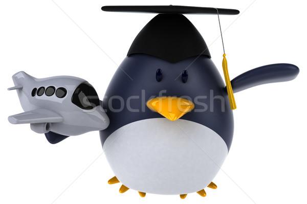 Jókedv pingvin 3d illusztráció madár repülőgép vicces Stock fotó © julientromeur