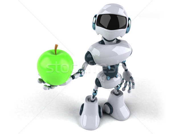 Robot meyve teknoloji Retro gelecek diyet Stok fotoğraf © julientromeur