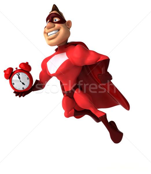Zabawy superhero człowiek zegar ciało prędkości Zdjęcia stock © julientromeur