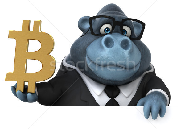 Jókedv gorilla 3d illusztráció pénzügy lánc digitális Stock fotó © julientromeur