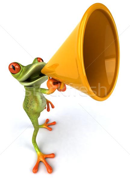 Stok fotoğraf: Eğlence · kurbağa · doğa · yeşil · hayvan · çevre