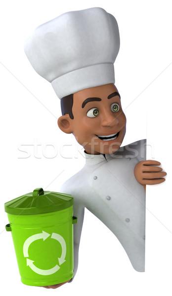 Jókedv szakács konyha fehér szemét főzés Stock fotó © julientromeur