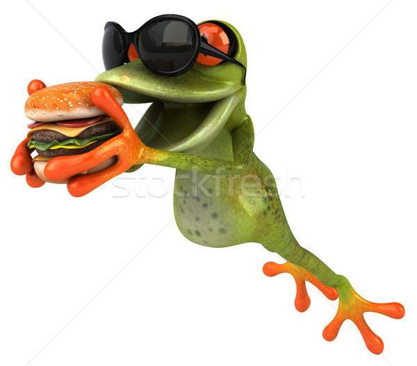 Kikker nieuwe oog natuur tropische fast food Stockfoto © julientromeur