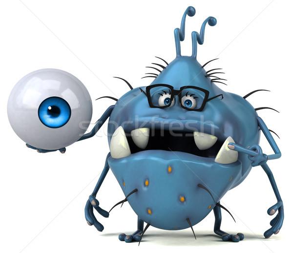 Jókedv bacilus 3d illusztráció egészség rajz ijesztő Stock fotó © julientromeur