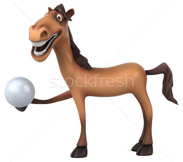 Diversión caballo deporte pelota dientes cabeza Foto stock © julientromeur