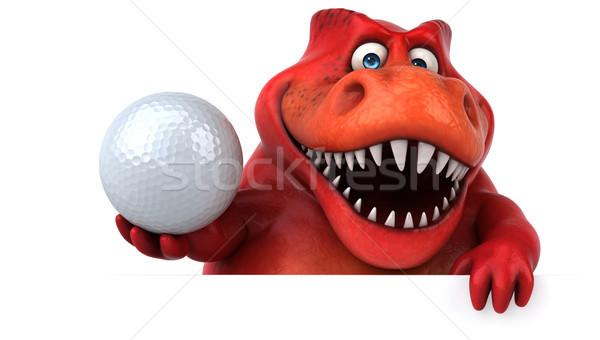 Eğlence dinozor 3d illustration spor top dişler Stok fotoğraf © julientromeur