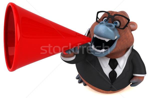 Jókedv 3d illusztráció üzletember öltöny Afrika majom Stock fotó © julientromeur
