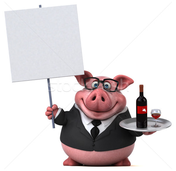Fun pig - 3D Illustration Stock photo © julientromeur
