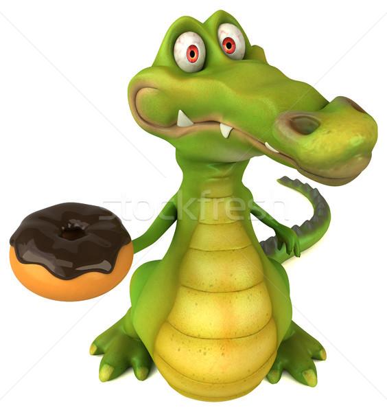 Krokodil leuk gelukkig ontwerp chocolade kunst Stockfoto © julientromeur