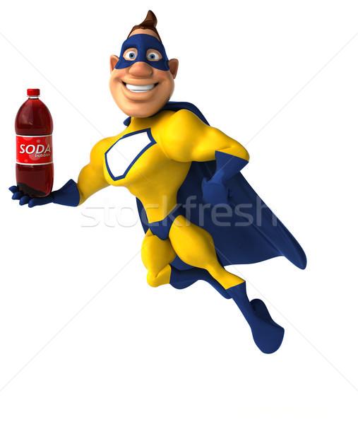 Zabawy superhero człowiek ciało pić prędkości Zdjęcia stock © julientromeur