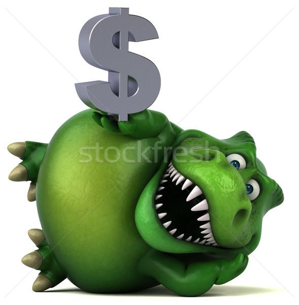 Eğlence dinozor 3d illustration finanse dişler hayvan Stok fotoğraf © julientromeur